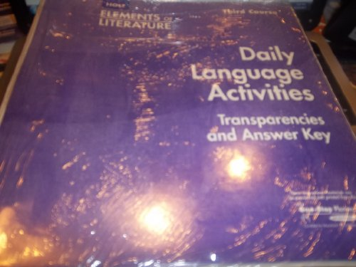 9780030738746: Daily Language Activities - Third Course (Holt Elements of Literature)