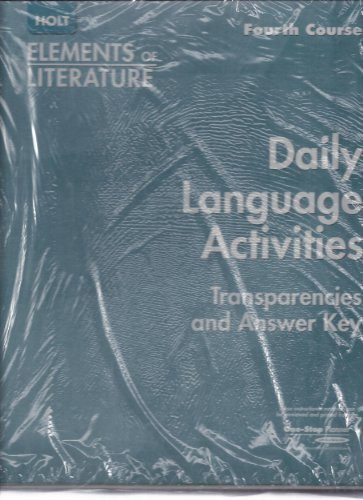 9780030738760: Daily Language Activities - Fourth Course (Holt Elements of Literature)