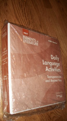 9780030738784: Holt Elements of Literature, Fifth Course: Daily Language Activities Transparencies (Grammar, Usage,