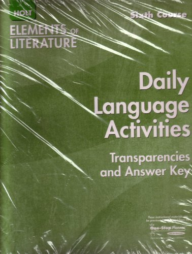 Elements of Literature Daily Language Activities Transparencies: Holt [Editor]