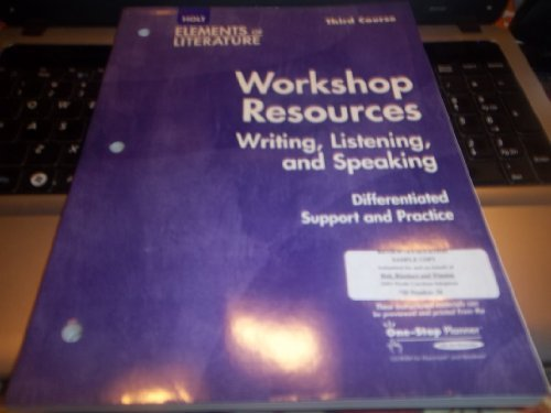 9780030738937: Elements Of Literature 2005: Third Course/grade 9:workshop Resources: Writing, Listening...