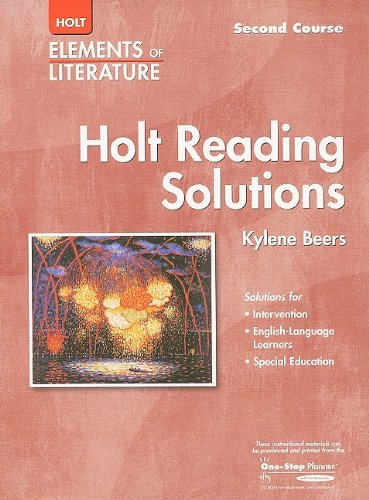 9780030739118: Elements of Literature: Reading Solutions Second Course