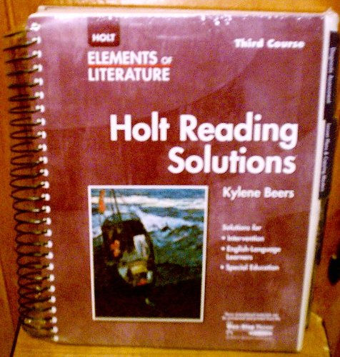 9780030739125: Elements of Literature: Reading Solutions Third Course