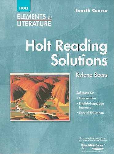 9780030739132: Elements of Literature: Reading Solutions Fourth Course
