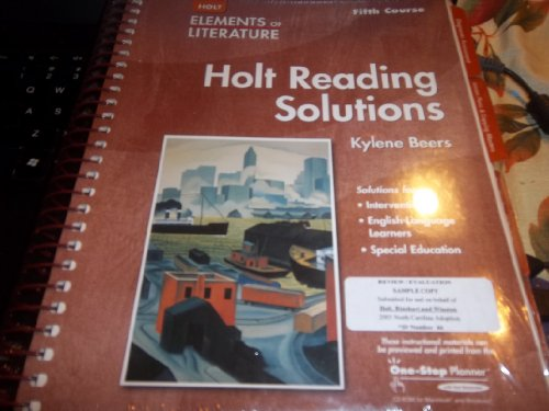 9780030739149: Elements of Literature: Reading Solutions Fifth Course