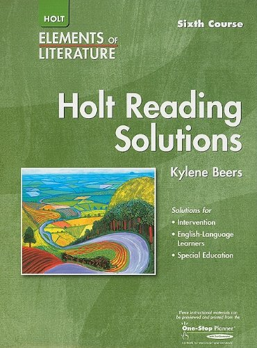 9780030739163: Elements of Literature: Reading Solutions Sixth Course