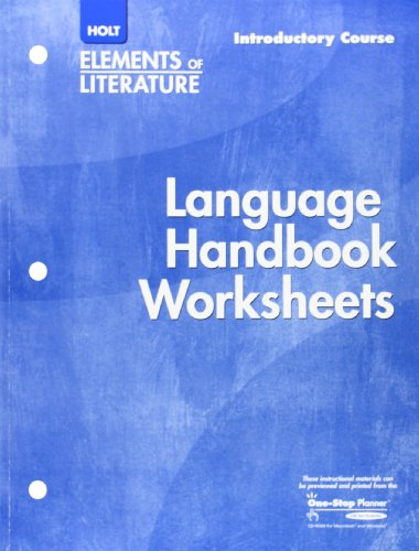 9780030739170: Holt Elements of Literature: Language Handbook Worksheets, Introductory Course, Grade 6