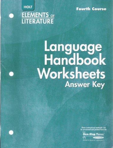 staff - language handbook worksheets answer - AbeBooks