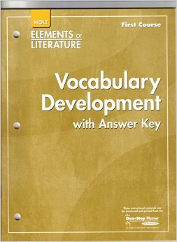 9780030739392: Elements of Literature: Vocabulary Development First course