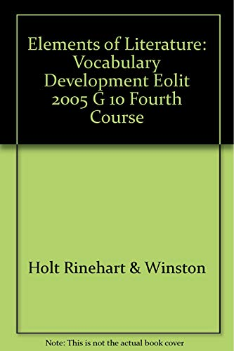 9780030739439: Elements of Literature: Vocabulary Development Fourth Course