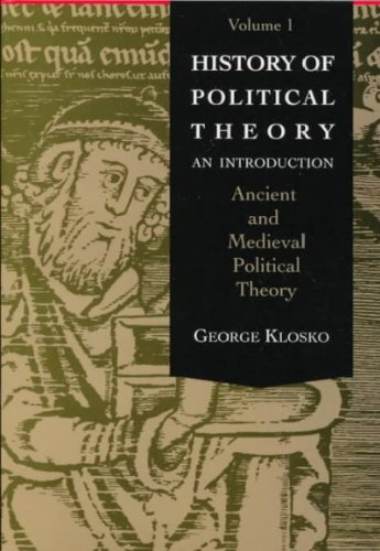 9780030740169: History of Political Theory: Ancient and Medieval Political Theory v.1: An Introduction: Ancient and Medieval Political Theory Vol 1 (Introduction to Political Theory)