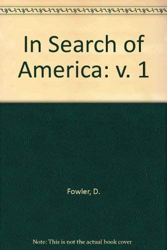 9780030741258: In Search of America: v. 1