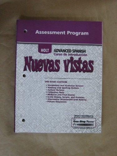 Nuevas Vistas: Assessment Program Intro: HOLT, RINEHART AND