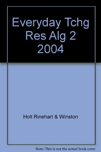 Everyday Tchg Res Alg 2 2004