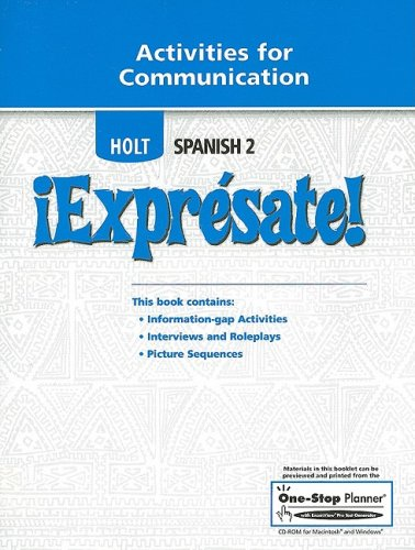 9780030744129: ¡Exprésate!: Activities for Communication Level 2