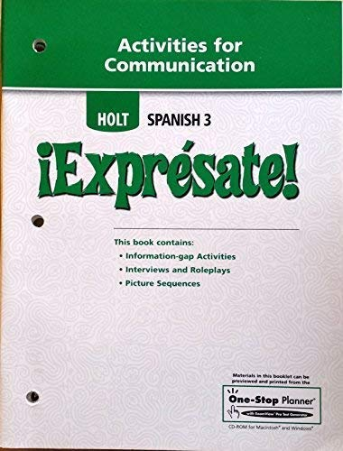 9780030744136: ¡Exprésate!: Activities for Communication Level 3