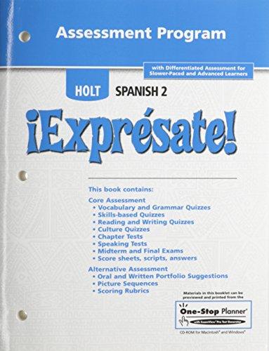 9780030744167: ¡Exprésate!: Assessment Program Level 2