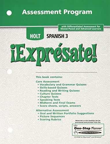 9780030744297: Holt Spanish iExpresate Spanish Level Three Assessment Program
