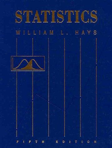 Statistics: Hays, William