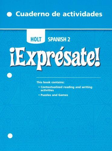 9780030744778: ?Expr?sate!: Cuaderno de actividades Student Edition Level 2