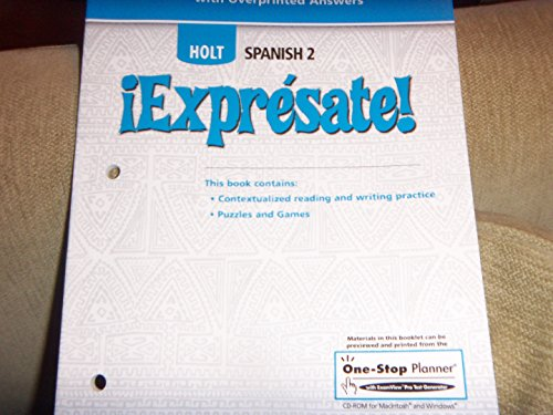 HOLT SPANISH 2 EXPRESATE WORKBOOK ANSWERS PDF