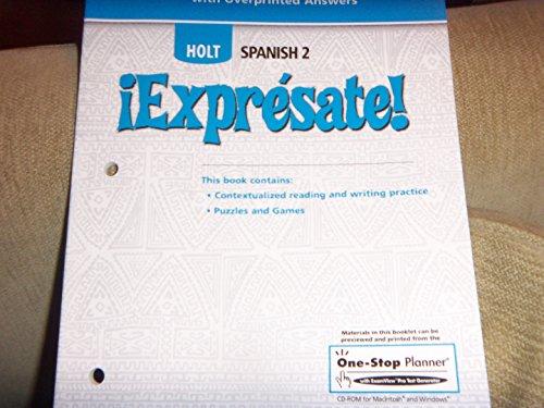 9780030744815: ¡Exprésate!: Cuaderno de actividades Teacher's Edition Level 2