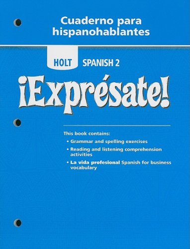 9780030745317: �Expr�sate!: Cuaderno para hispanohablantes Student Edition Level 2