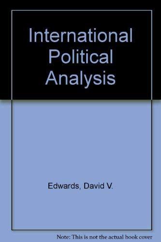 9780030745454: International political analysis