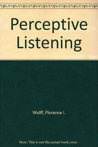 9780030745492: Perceptive Listening