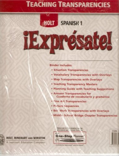 9780030745676: ¡Exprésate!: Teaching Transparencies with Planning Guide Levels 1A/1B/1