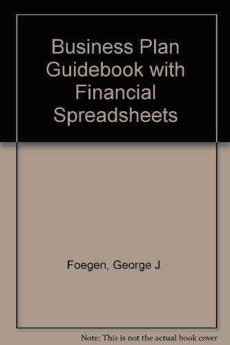 9780030746826: Business Plan Guidebook With Financial Spreadsheets/Book and Disk