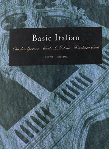 9780030749919: Basic Italian (Book Only)