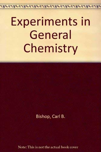 9780030751639: Experiments in General Chemistry