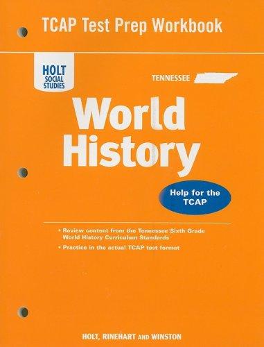 9780030753176: World History, Grades 6-8 Test Prep Workbook: Holt World History Tennessee