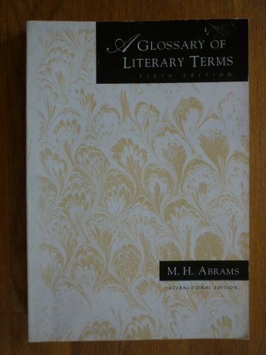 9780030753718: A Glossary of Literary Terms
