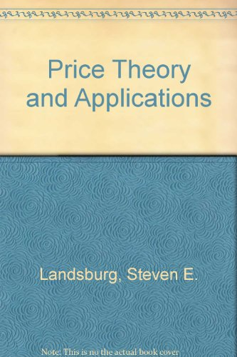 9780030753862: Price Theory and Applications