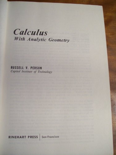 9780030754302: Calculus with Analytic Geometry