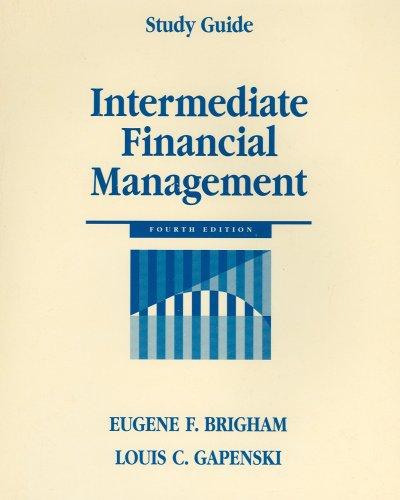 Intermediate Financial Management - Study Guide