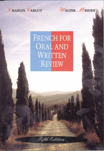 9780030758997: French for Oral and Written Review