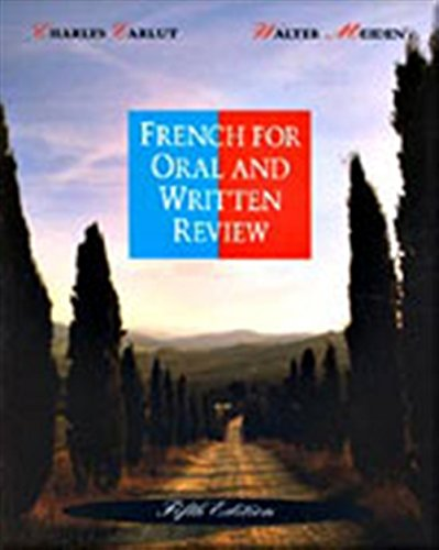 9780030758997: French for Oral and Written Review, Fifth Edition (English and French Edition)