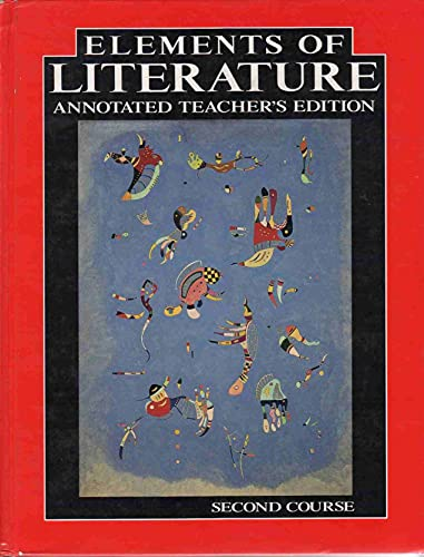 Elements Literature Annotated Teacher S Edition Second Course: Anderson