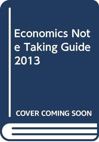 9780030760860: Economics Note Taking Guide 2013