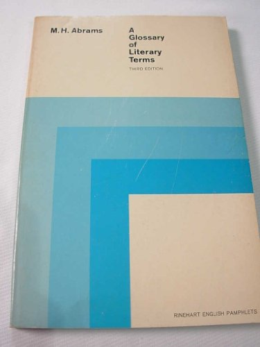 9780030765858: Glossary of Literary Terms (Rinehart English pamphlets)