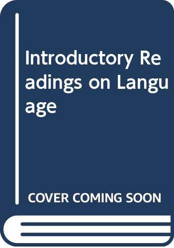 9780030766503: Introductory Readings on Language