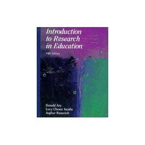 9780030766954: Introduction to research in education