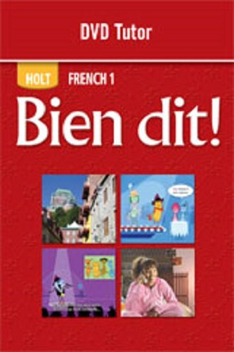 9780030769672: Bien dit! (French 1) DVD TUTOR