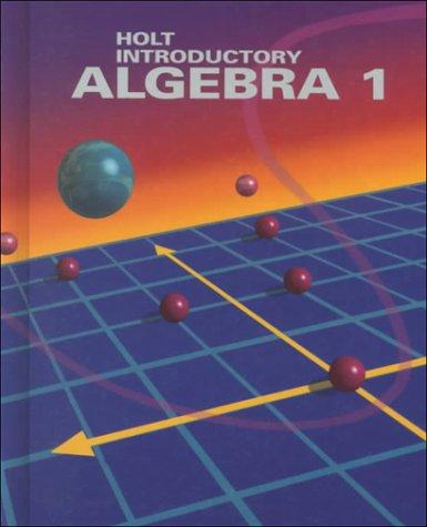 9780030769795: Introductory Algebra 1