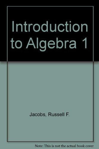 Holt Introductory Algebra 1: Jacobs, Russell F.