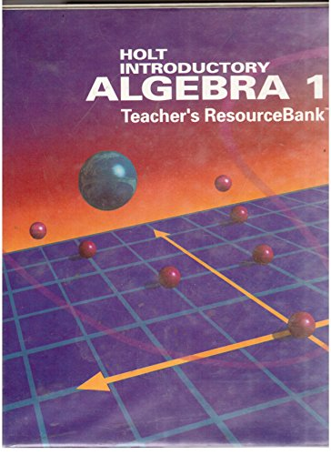 9780030769825: Holt Introductory Algebra 1 Teacher's ResourceBank