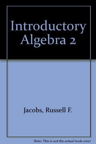 9780030769849: Introductory Algebra 2